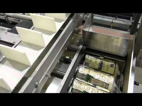 HL350SA Rice Cakes in Display Case Semi-Automatic Side Load Case Packer