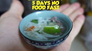 Making a tiny bowl of Pho to end my 5 day no food fast. by Brothers Green Eats