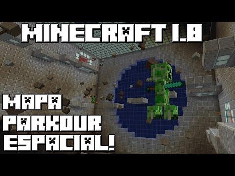 Minecraft 1.8 MAPA PARKOUR ESPACIAL!