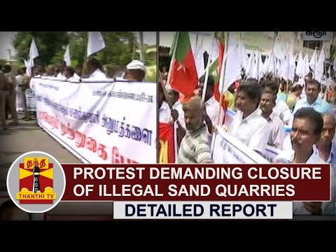 CPI-including-Many-Party-Cadres-stage-protest-demanding-closure-of-Illegal-Sand-Quarries-in-Karur