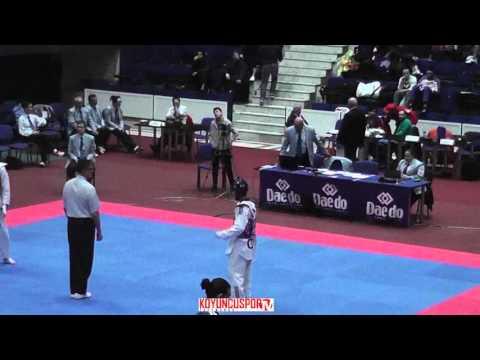 58kg Pantelis DIMOU (CYP) vs (MDA) PORCESCU,Dumitru (-21 European TKD Championships 2015) (видео)