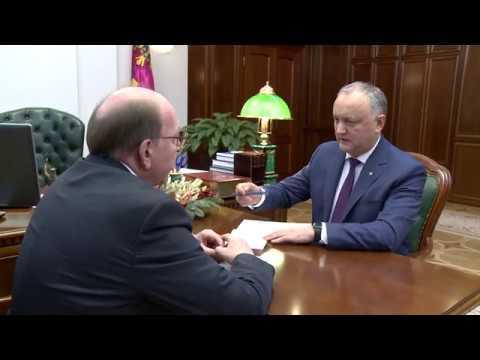 Президент Республики Молдова провел встречу с Послом Российской Федерации