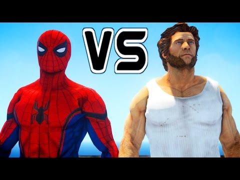 SPIDERMAN VS WOLVERINE - EPIC SUPERHEROES BATTLE   DEATH FIGHT
