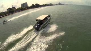 The QuadH2o™ - waterproof quadcopter chasing boats