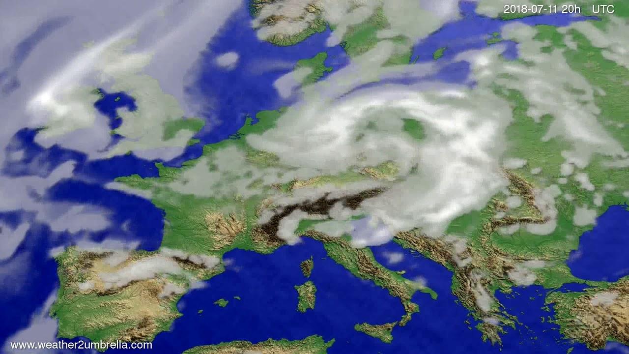 Cloud forecast Europe 2018-07-09
