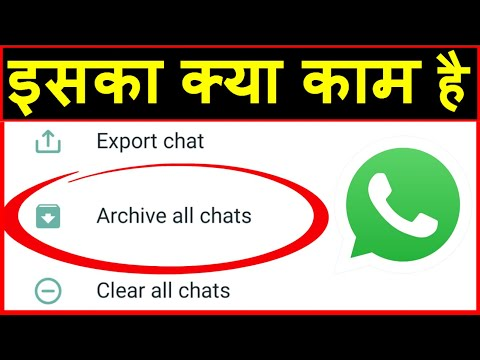 Whatsapp par archive ka matlab ? What is archive all chats in Whatsapp