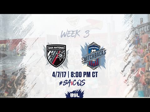 USL LIVE - San Antonio FC vs Colorado Springs Switchbacks FC 4/7/17