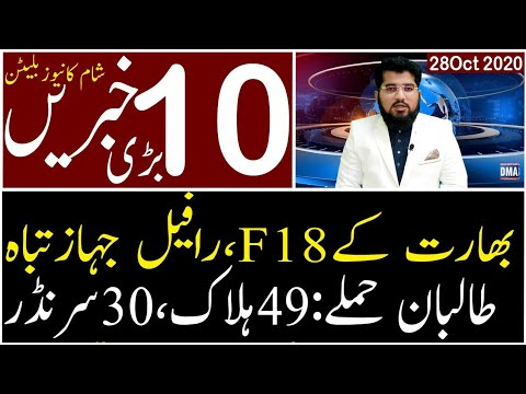 Top 10 with GNM || Today's Top Latest Updates by Ghulam Nabi Madni || Evening || 28 October 2020 ||