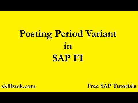 Posting Period Variant in SAP FI | SAP FI Posting Period | SAP Free Tutorials