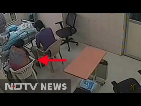 Family visits man in hospital. They secretly try to threaten him and murder him. CCTV caught them.
