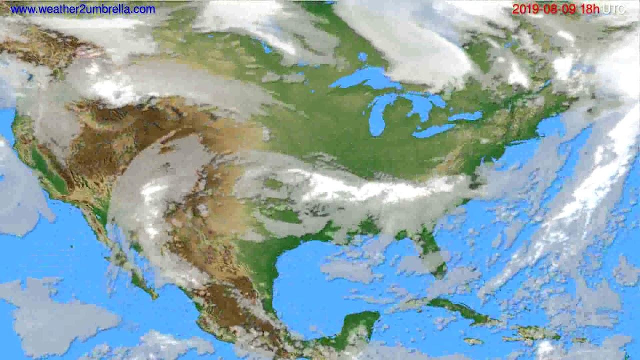 Cloud forecast USA & Canada // modelrun: 00h UTC 2019-08-07