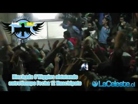 Video - Hinchada de O'Higgins alentando en el entretiempo vs. Huachipato. - Trinchera Celeste - O'Higgins - Chile
