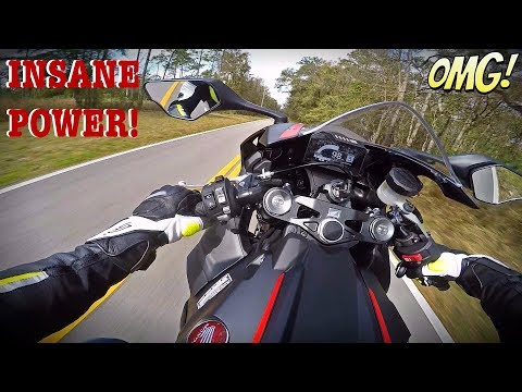 2017 Honda CBR1000RR Test Ride + 6th Gear Wheelie
