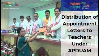 Distribution of Appointment Letters To Teachers Under #PDUAM