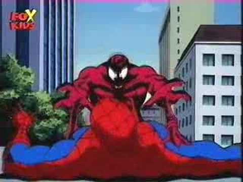 Spiderman - piderman Cartoon-Spidey meet Carnage part1.