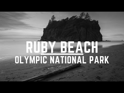 Landscape Photography in Ruby Beach | SUPER Long Exposure in Black and White