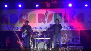 Singer Sreekant With Guitarist Arko And Drummer Gaurav At SMS Varanasi