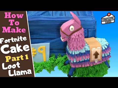 How To Make A LOOT LLAMA From FORTNITE Cake Decoration Tutorial By Caketastic Cakes