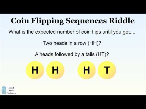 Counter-Intuitive Probability. Coin Flips To HH Versus HT Are Not The Same!