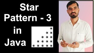 Star Pattern - 3 Program (Logic) in Java by Deepak