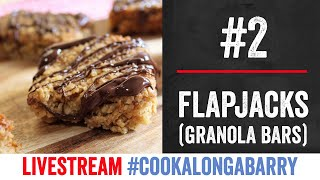 Chocolate Flapjacks (granola bars) - Livestream 2 #cookalongabarry by  My Virgin Kitchen