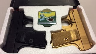 Review On Twin Pack Pocket Pistol Gun  Gold   Black