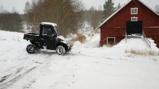 10. Snow plowing with POLARIS RANGER 570