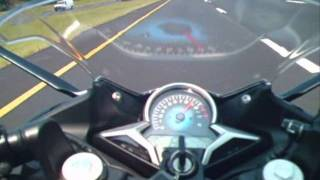 8. 2011 Honda CBR250R Top Speed and Acceleration Run