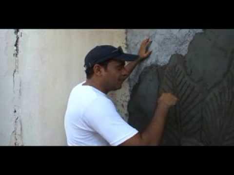 How to make   أحمد العزاني   كيف تصنع جدارية   نحت