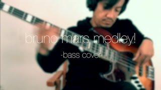 Bruno Mars Medley / Live (bass cover by Angga)