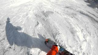 Download Lagu GOPR0 HD Helmet Cam February 2nd Snowboarding at Fernie BC, crazy wipeout from top of polar peak Mp3