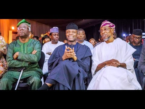 Hot! Kenny Blaq Thrills VP Osinbajo, Aregbesola, EL Rufai & Others