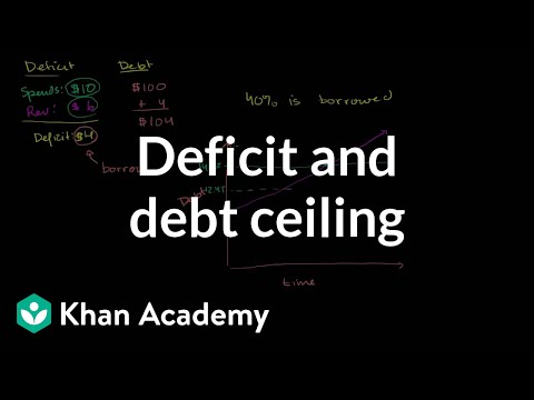 deficit - Learn more: http://www.khanacademy.org/video?v=-05OfTp6ZEE Basic of the deficit, debt and debt ceiling.