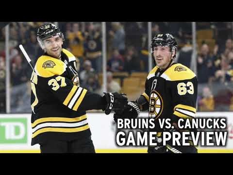 Video: Bruins vs. Canucks preview: B's aim for first win on road trip