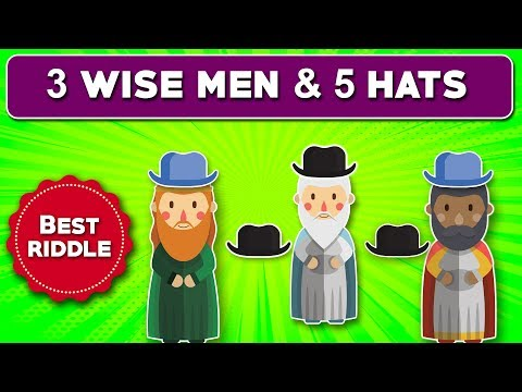 3 wise men & 5 hats puzzle: Only 1% can understand logic behind this puzzle