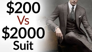 Video $200 Vs $2000 Men's Suit | 5 Differences Between Low & High Quality Suits | Cheap Vs Expensive MP3, 3GP, MP4, WEBM, AVI, FLV September 2018