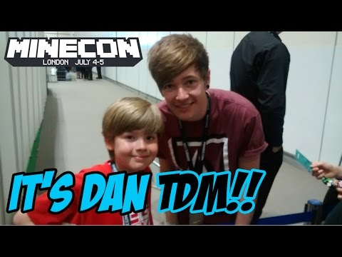 Ethan meets DanTDM at Minecon 2015!!! It's EPIC!!!! (видео)
