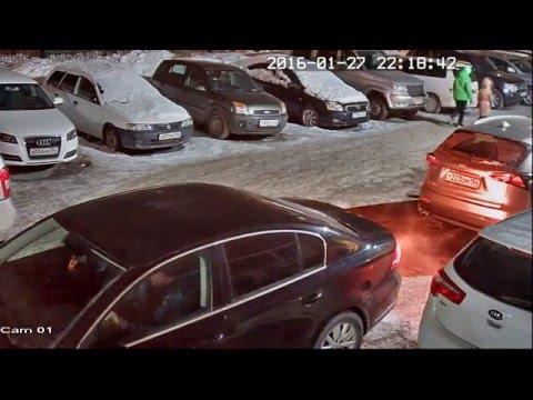 Ночное видео с камеры CTV StarLight