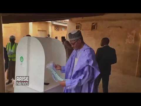 President Buhari Votes, Commends Peaceful Process.