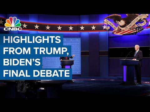 Highlights on President Donald Trump and Joe Biden concluding their final debate