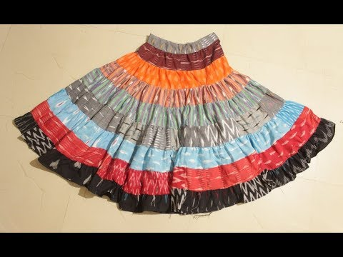 Stitch Skirt From The Waste Cloth Video In Tamil