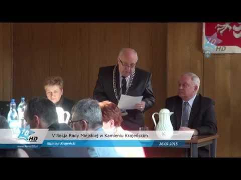 V Sesja Rady Miejskiej w Kamieniu Krajeńskim, 26.02.2015 r.