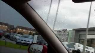 Wakefield United Kingdom  city photos : Tornado / Funnel clouds in UK twister United Kingdom Wakefield in England VLOG from my CAR