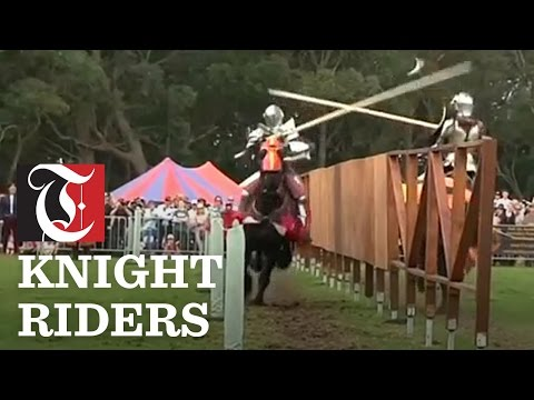 Thrills and spills at Australia's jousting tournament.'Knights' in armour battle each other at a medieval jousting tournament in Sydney, Australia. Yiming Woo reports.