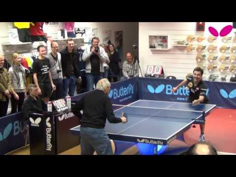 Timo Boll visiting Butterfly Store Moers
