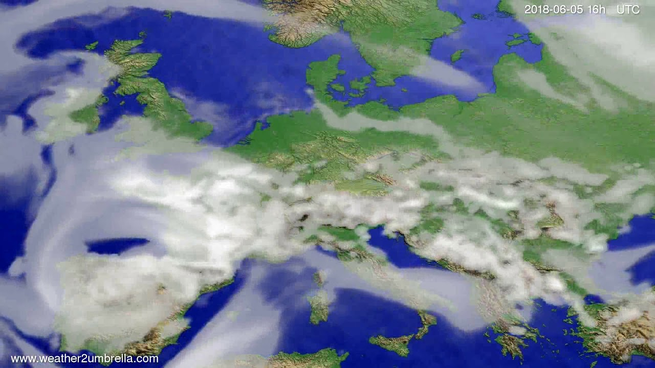 Cloud forecast Europe 2018-06-02