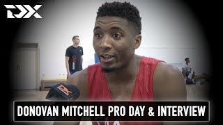 Donovan Mitchell NBA Pro Day Workout Video and Interview