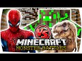 MINECRAFT: SPIDERMAN VS RADIOACTIVE SPIDER n T REX | Nunan » Monster Battles (Deutsch/HD)