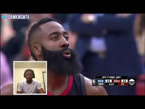 James Harden Playoffs 2018 Round 1 Game 1 Rockets vs Timberwolves Reaction