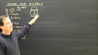 Physics Lesson: Kinetic Energy And Work, Conservation Part 2 Help Lesson